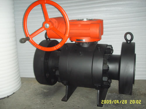 Trunnion Mounted Ball Valve, metal seat type